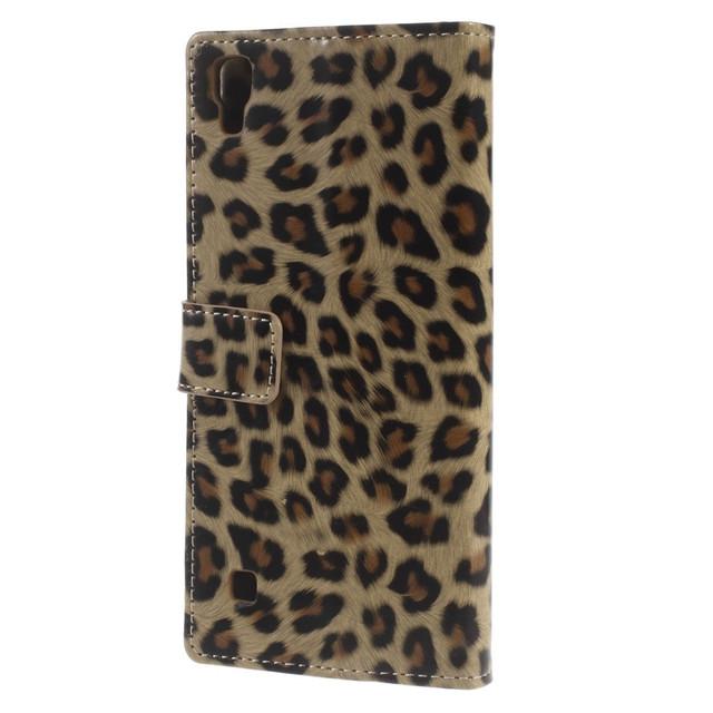 чехол книжка LG X Style леопард