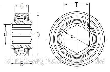 Подшипник FAFNIR 205KRR2-C1AG, AA28271, AE29876, GA5116, HPC014GP, 1AH05-7/8 , фото 2
