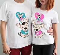 """Парные футболки """"Собачки"""""""