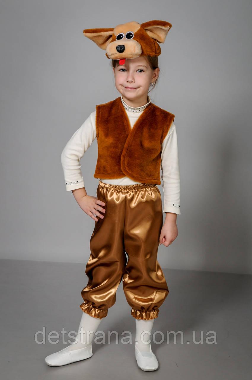 Карнавальный детский костюм Собака коричневая
