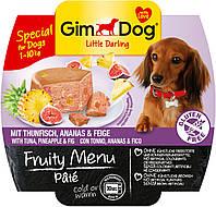 Паштет GimDog LD Fruity Menu для собак с тунцом, ананасом и инжиром, 100 г