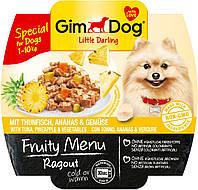 Консервы GimDog LD Fruity Menu для собак из кусочков тунца, ананаса и овощей, 100 г