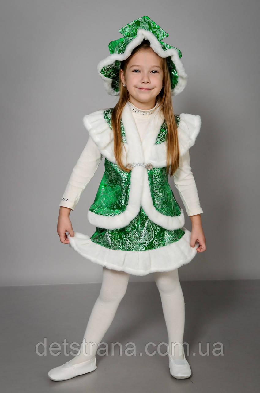 Детский карнавальный костюм Елочка парча