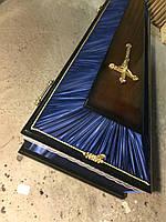 Гроб - лак/ткань (синий)