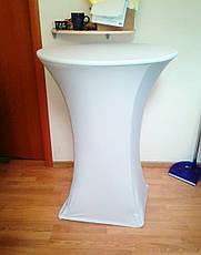 Стрейч чехол на стол 70/110 круглый из плотной ткани Спандекс, фото 2