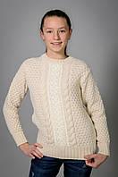 Вязаный детский свитер для девочки