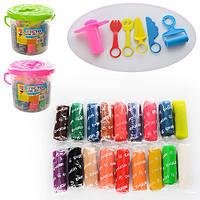 Тесто - пластилин для лепки MK 0813, 18 цветов