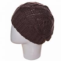 Вязаная женская шапка берет на зиму