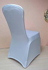 Стрейч чехол на стул из Плотной эластичной ткани Спандекс, фото 3