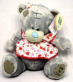 Мишка Тедди в платье 17 см  00365