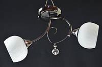 Люстра потолочная двухламповая PR4606-2GM, фото 1