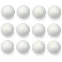 Пенопластовый шар 10 см шары-заготовки из пенопласта 1 шт, фото 1