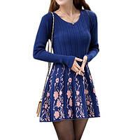 Платье трикотажное Цветочное