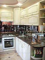 Кухня Прованс, пленочная, угловая, скинали, фото 1