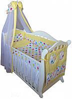 Twins Детский постельный комплект Twins Comfort С-036 Цветные горохи (multi)