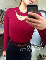 Костюм -блузка и юбка с поясом Модель 135