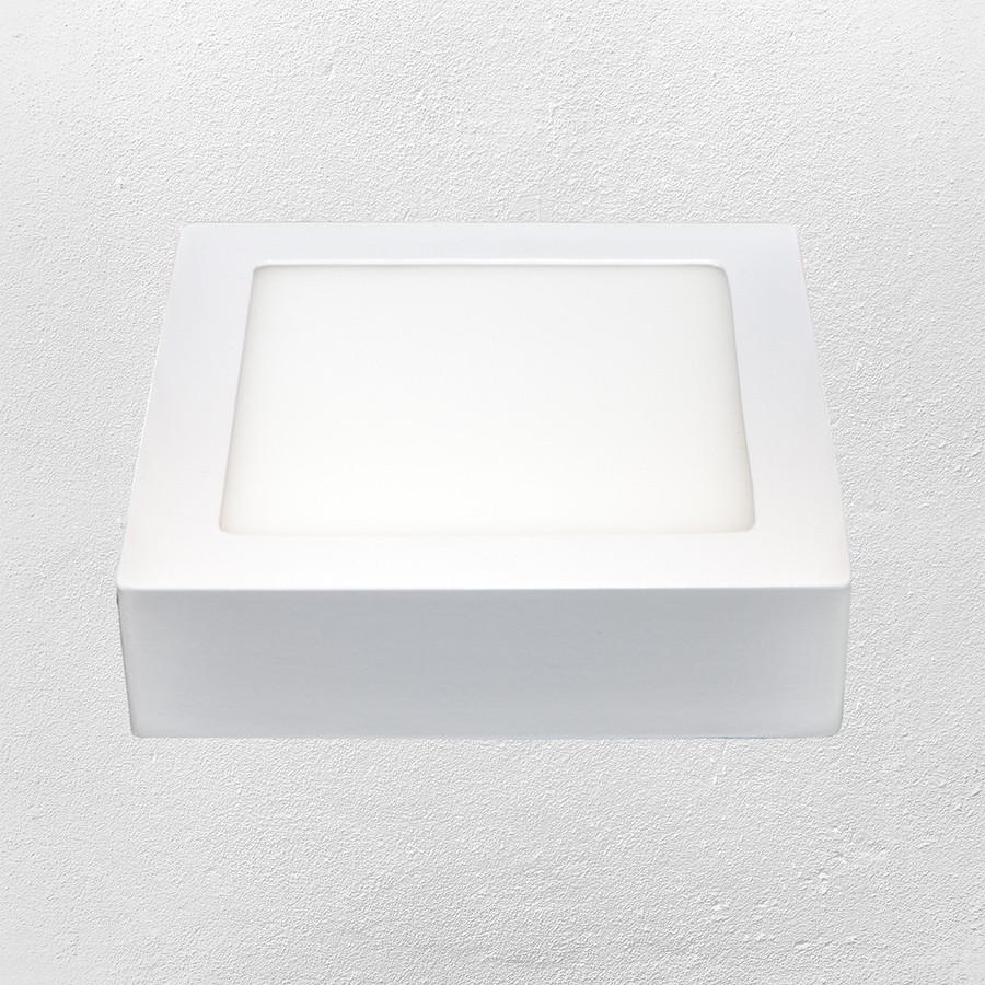 Светодиодный LED точечный накладной светильник 6W (квадрат)холодный