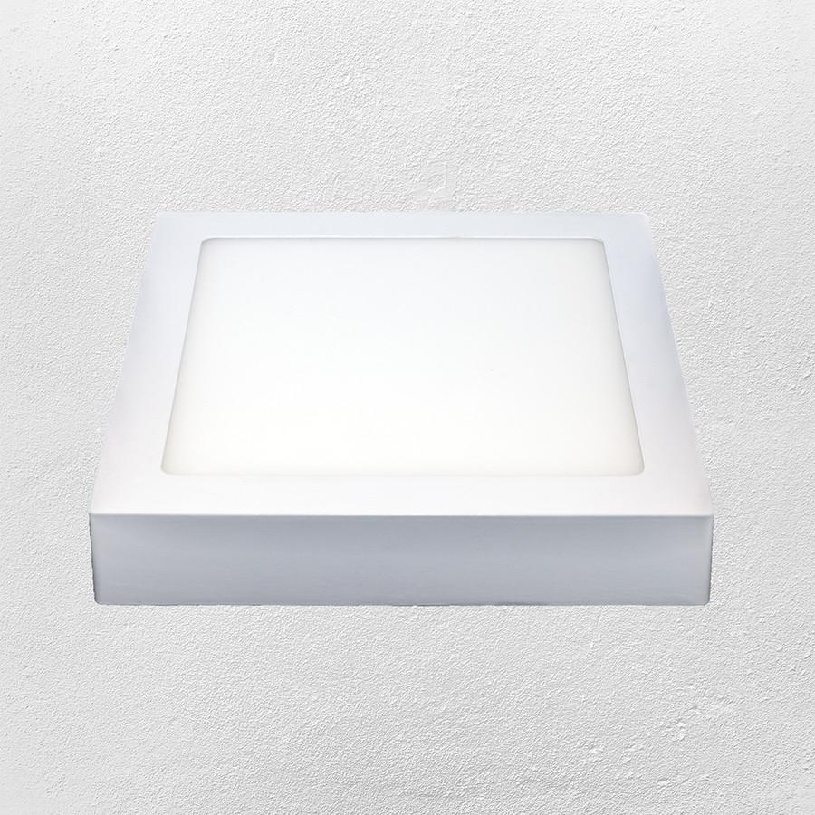 Светодиодный LED точечный накладной светильник 12W (квадрат) нейтральный