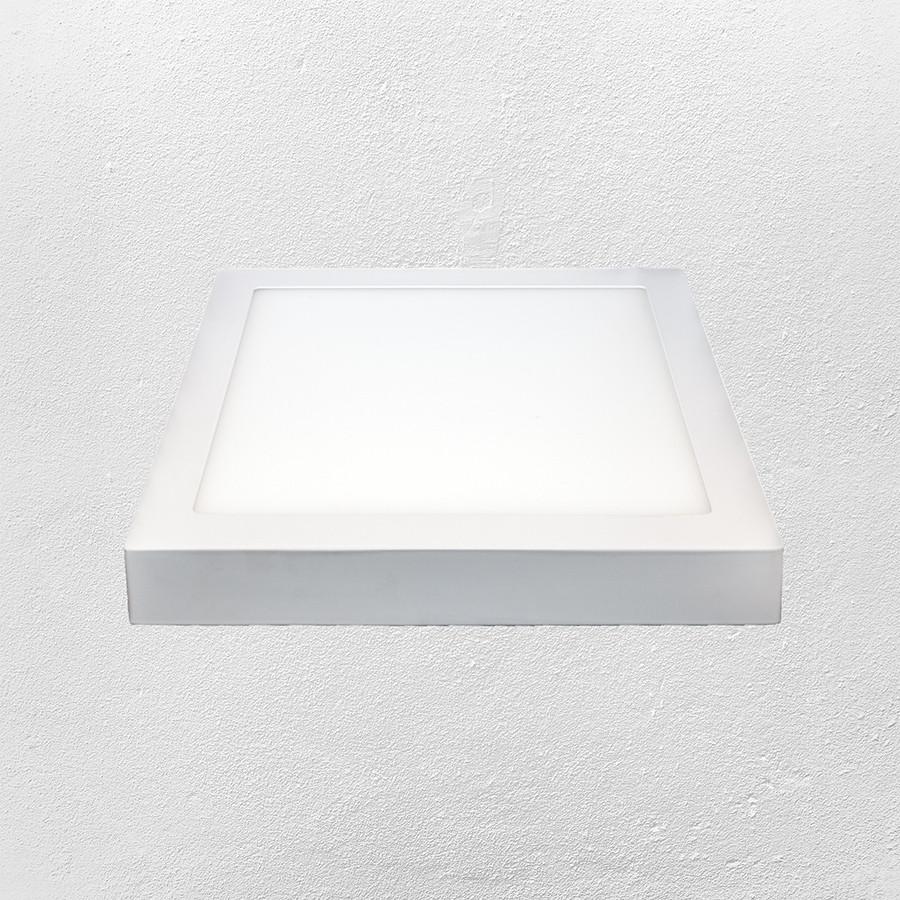 Светодиодный LED точечный накладной светильник 18W (квадрат) нейтральный