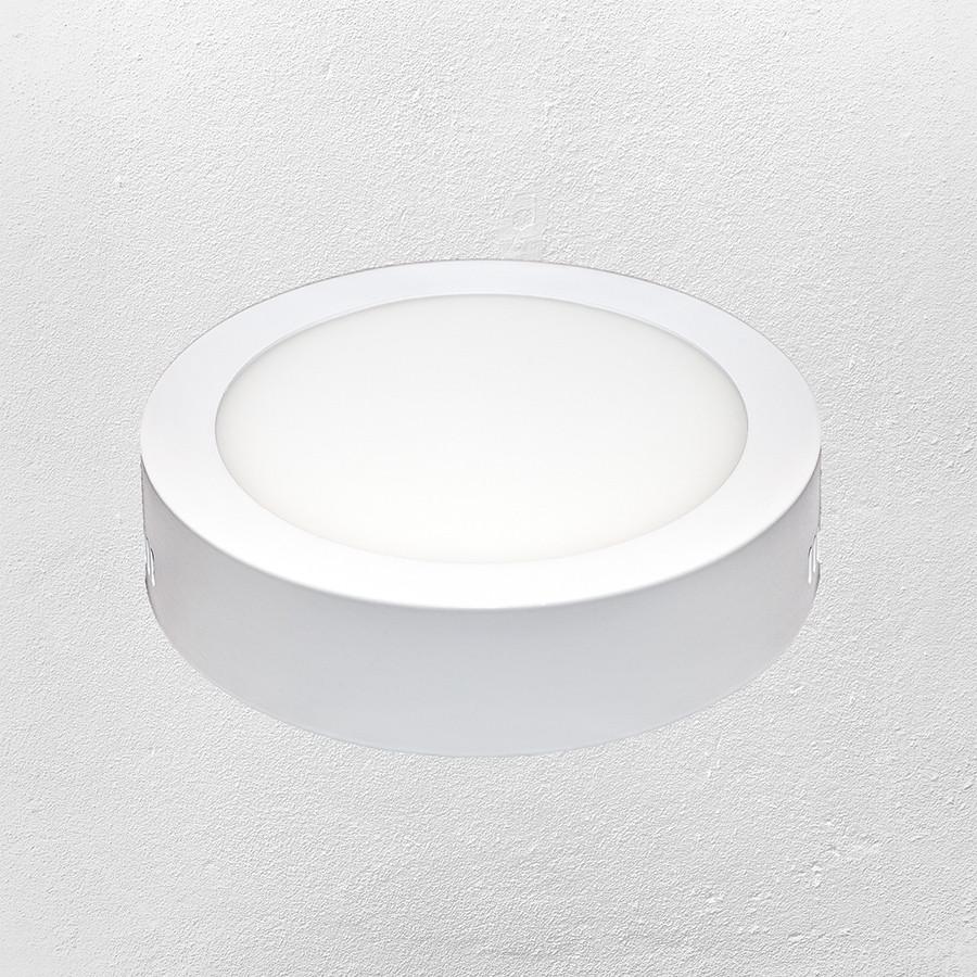 Светодиодный LED точечный накладной светильник 6W (круг) холодный