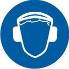 """Знак """"Працювати з використанням засобів захисту органів слуху"""""""