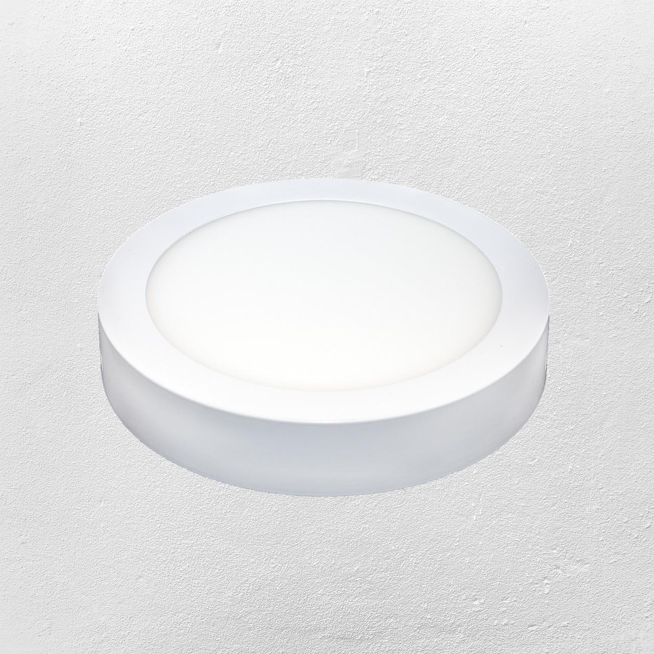 Светодиодный LED точечный накладной светильник 18W (круг) холодный