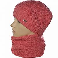 Шапка и шарф комплект женский