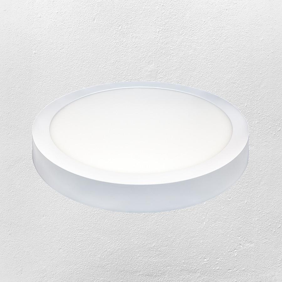 Светодиодный LED точечный накладной светильник 24W (круг) теплый
