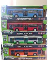 Инерционный троллейбус Play Smart 9690, звук, свет, 29см