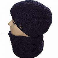 Зимний комплект шапка и шарф женский