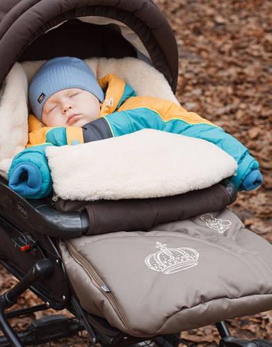 Конверт в коляску на овчине 0356 (в ассортименте), Baby Breeze