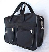Мужская сумка через плечо Барсетка деловая А4+ 38х26х13см