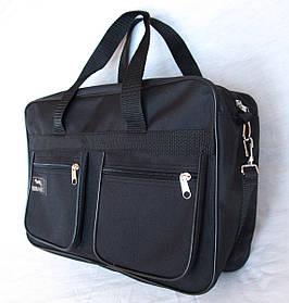 Мужская сумка барсетка через плечо папка портфель А4+ Wallaby 2630 черная сумки опт от 10шт