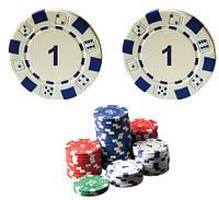 """Набор для покера: 25 фишек, номинал """"1"""""""