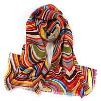 Женский стильный шарф шерстяной разноцветный