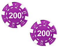 """Набор для покера: 25 фишек, номинал """"200"""""""