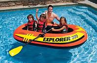 Intex 58332 Лодка в наборе насос и весла Explorer (211х117х41см)
