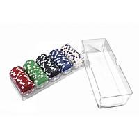 Набор для покера: 100 фишек в пластиковом кейсе