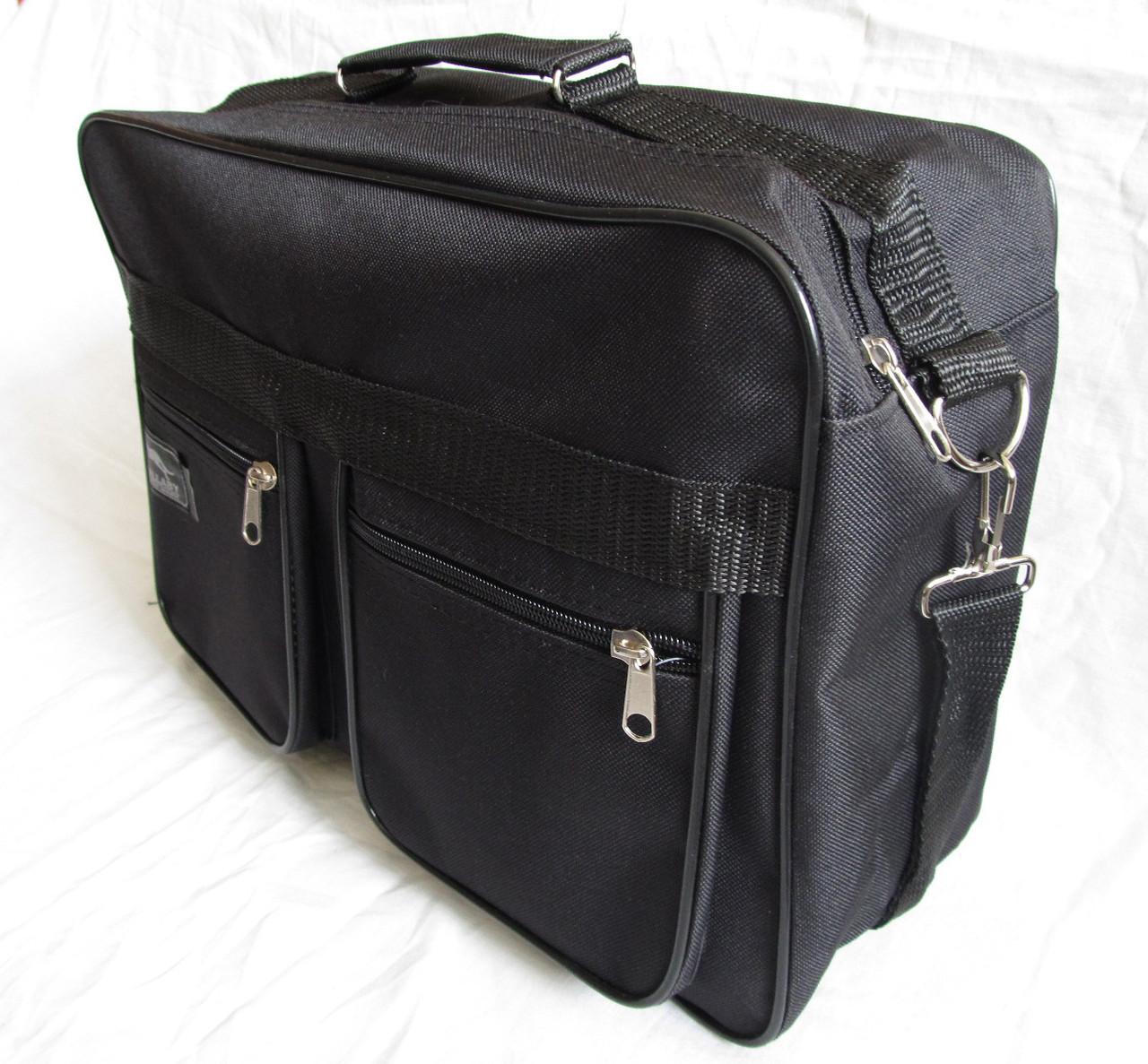 Мужская сумка барсетка через плечо папка портфель большого размера А4+ в2631 черная  38х26х13см
