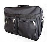 Мужская сумка барсетка через плечо папка портфель большого размера А4+ в2631 черная  38х26х13см, фото 2