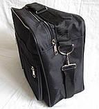 Мужская сумка барсетка через плечо папка портфель большого размера А4+ в2631 черная  38х26х13см, фото 4