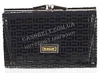 Компактный оригинальный женский кожаный кошелек с замши высокого качества ELEGANT art. 309A#ZP1-1 черный