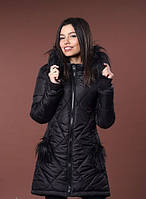 Женская модная зимняя куртка с мехом