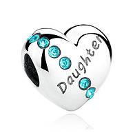 """Шарм бусина №920 """"Любимая дочь"""" для браслета Пандора PANDORA (Серебро)"""