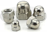 Гайка колпачковая, Нержавеющая М3-М20 - (DIN 1587) - (А2 и А4)