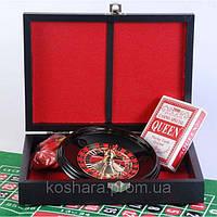 Рулетка + покер в кожаном кейсе