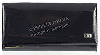 Классический оригинальный женский кожаный кошелек высокого качества WILDNESS art.2030-C35 черный лак, фото 1