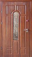 Входная уличная дверь (два контура) модель Лагуна Премиум + ковка