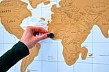 Скретч карта мира (Scratch Map)английский язык, фото 2