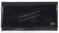Классический оригинальный женский кожаный кошелек высокого качества WILDNESS art.2487-C35 черный лак